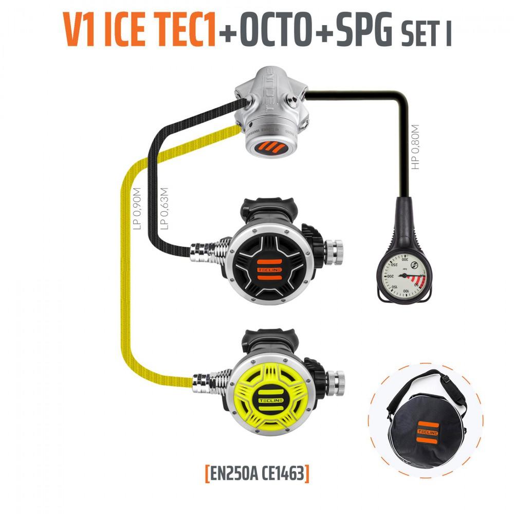 TecLine V1 ICE TEC1 zestaw I z oktopusem i manometrem - EN250A