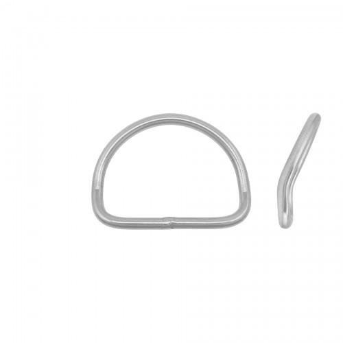 D-ring nierdzewny wygięty szeroki 50 średnica 5mm