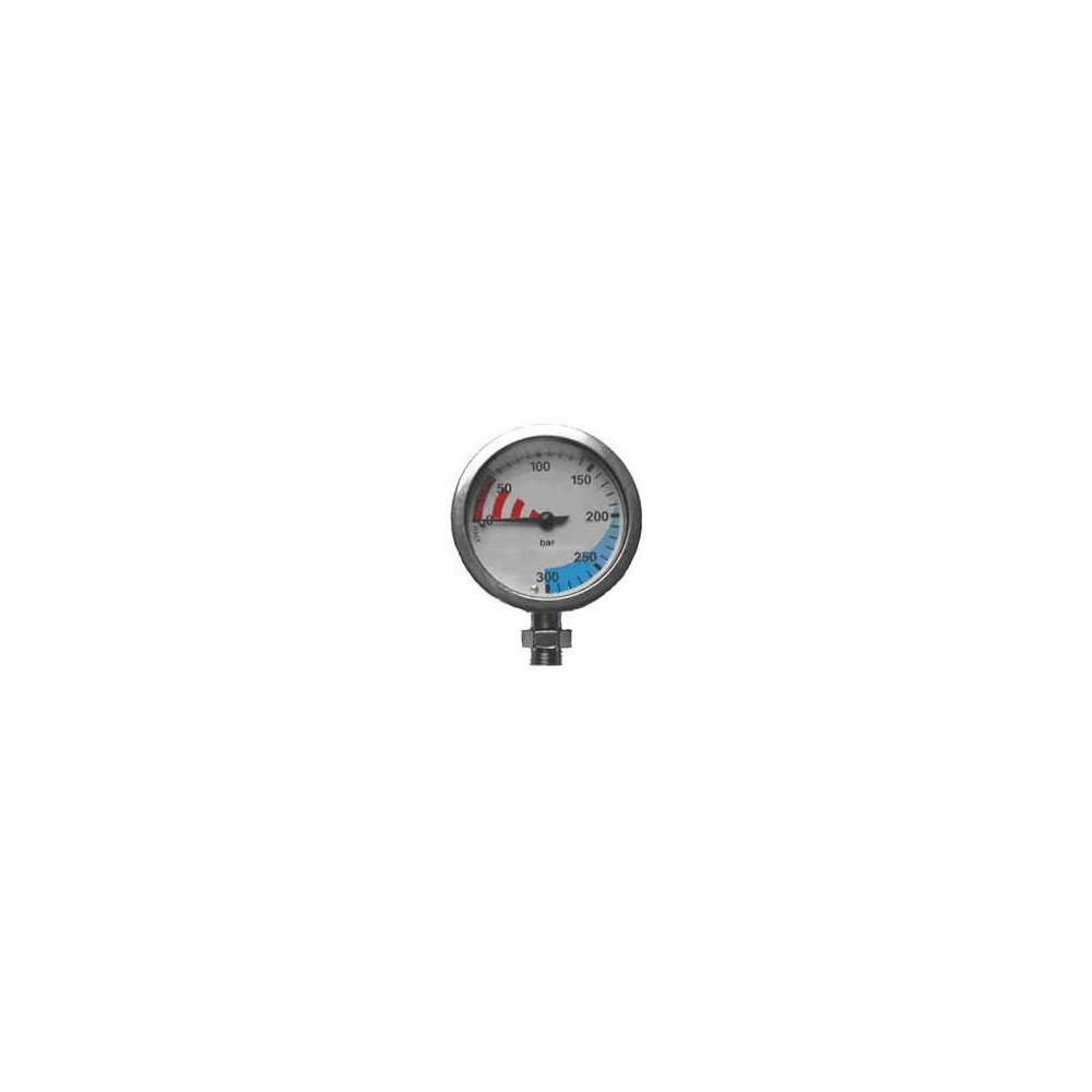 Manometr S-Tech O2 300 bar 63 mm chrom - głowica