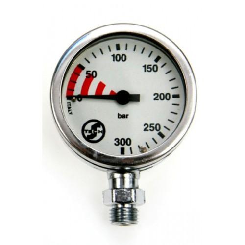 Manometr S-Tech 300 bar 52 mm chrom - głowica