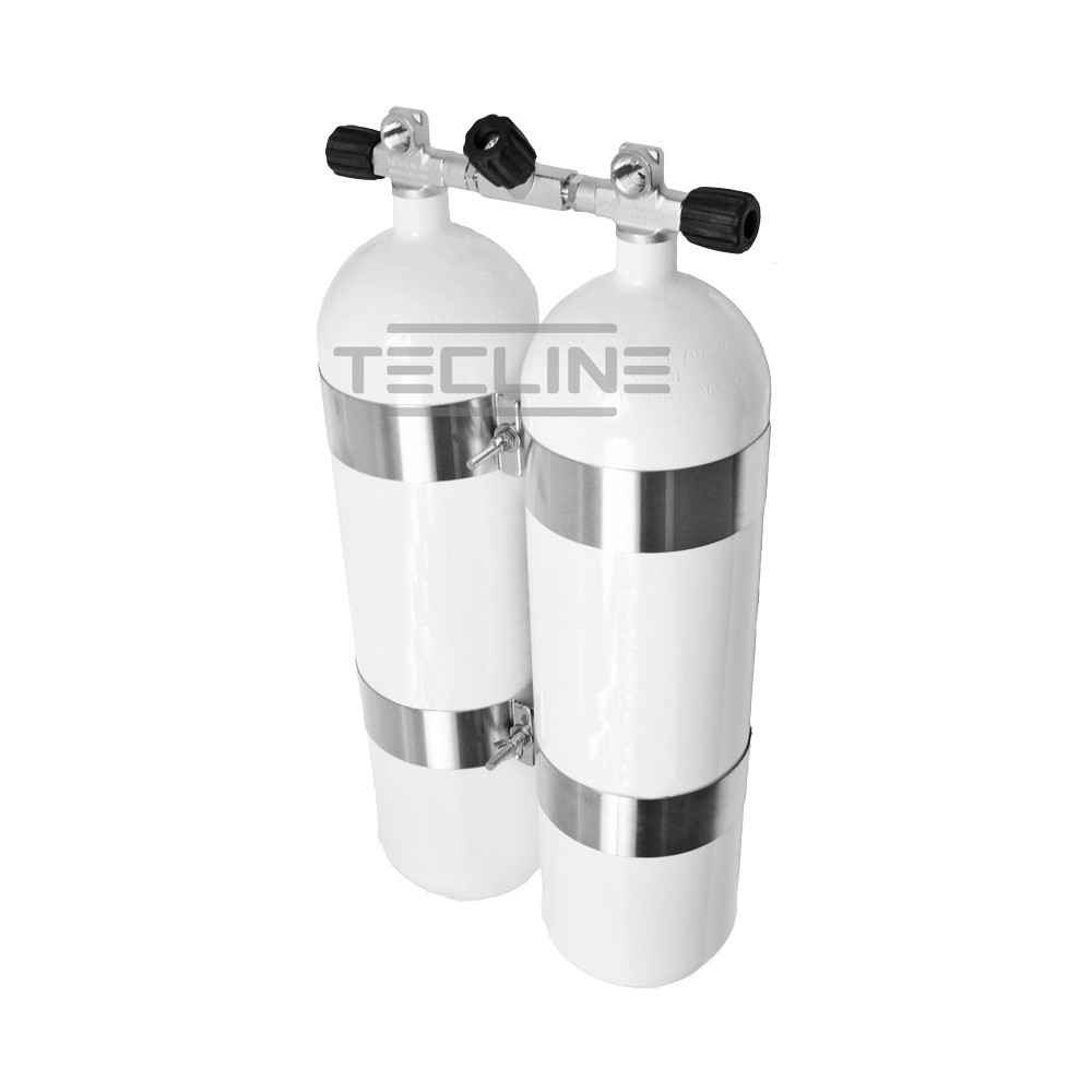 Zestaw 2 x 12L 171 mm, 300 bar, ECS, obejmy TecLine wysokość 60 mm, gumowe gałki