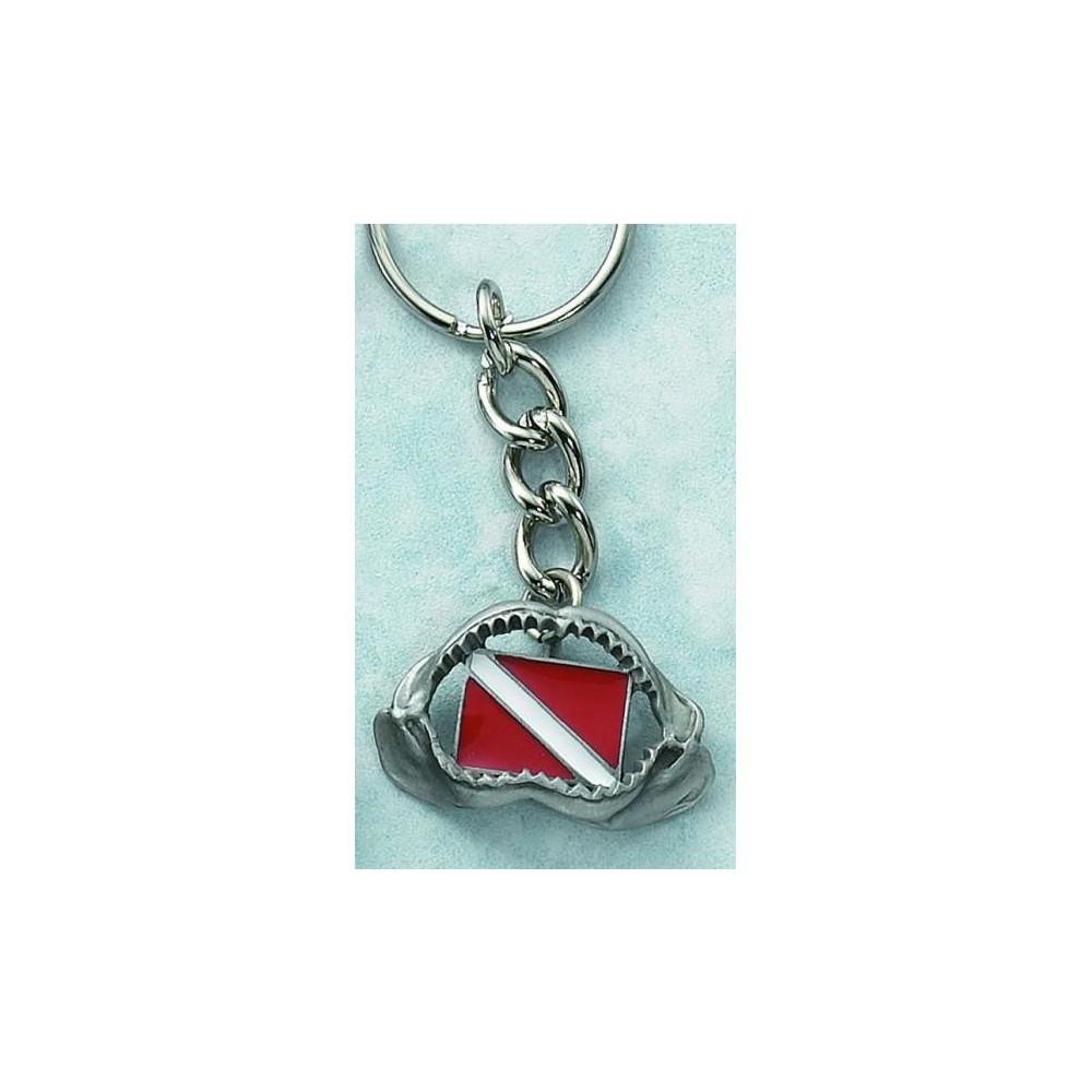 Brelok na klucze -Szczęki z flagą